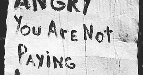 Word on a wall if you are not angry you are not paying attention