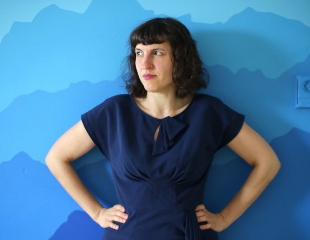 Marsha on a blue background