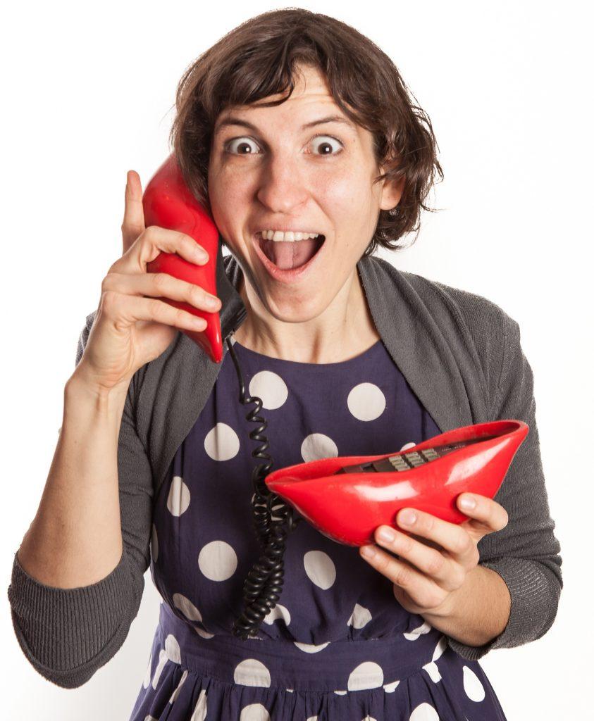 Marsha on the phone