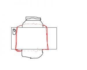 homemade tripod using a mason jar and an elastic band