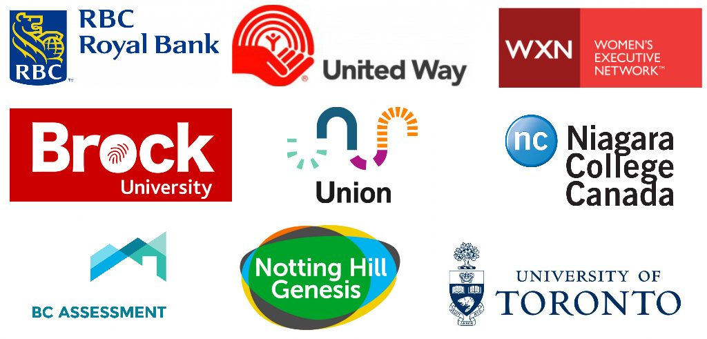 9 logos of clients Marsha has worked with