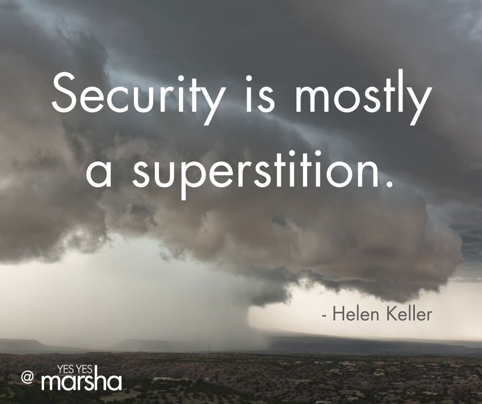 security is mostly a superstition quote of Helen Keller