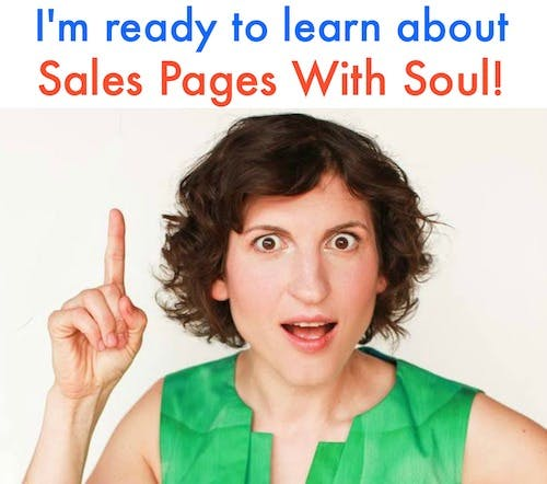 Marsha pointing to the link of Sales pages with soul